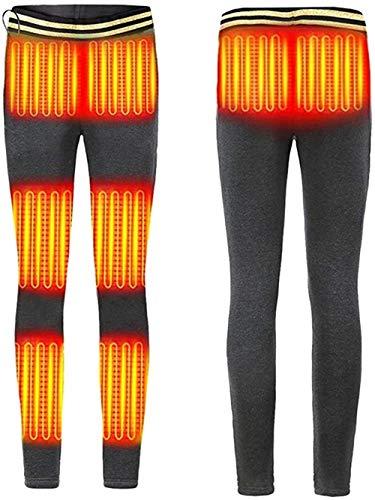EssenceLiving Pantalones calefactados USB Calor Eléctricos Cintura / Vientra/Rodilla/Tobillo, Ajuste de la Temperatura de Invierno Calefacción Base Pantalones para Mujeres Hombres