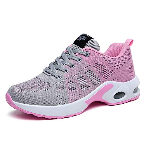 Women's Running Shoes Fashion Sports Sneakers for Walking,Hiking,Training Pink