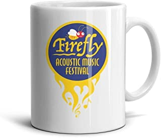IOP56WE Happy Firefly Music Festival Ceramic Coffee Mugs Suitable for Couple Cartoon Cup