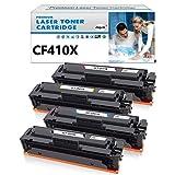 Jagute 410X Toner Sostituzione HP 410X CF410X 410A CF410A Compatibile con Stampanti HP Color Laserjet Pro M452dn M452nw M452dw M452, M377dw M377, MFP-M477fdw M477fdn M477fnw M477 (1 Set)