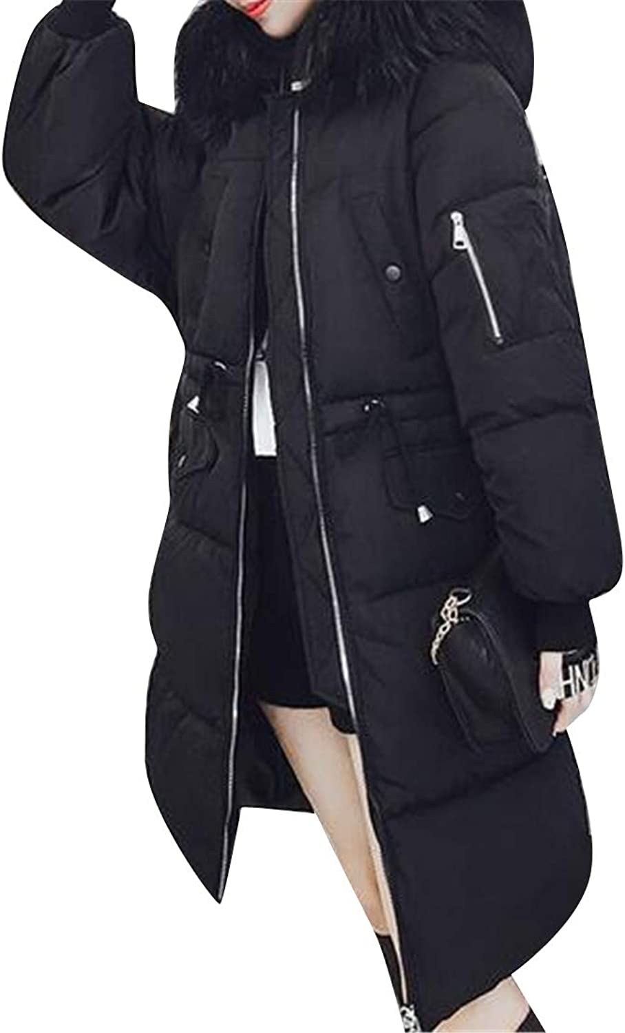 Suncolor8 Womens Winter Warm Thicker Hoodie Tunic Down Quilted Jacket Coat Parka