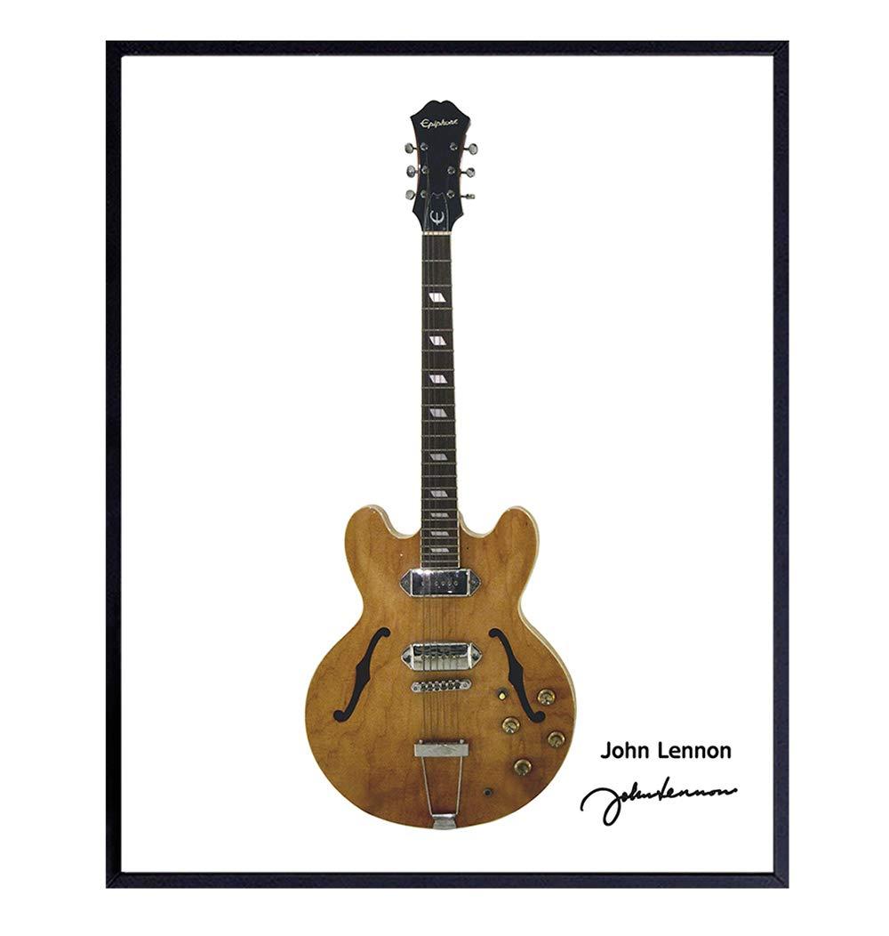 John Lennon Guitar Art Print Wall - Unique 4 years warranty OFFicial shop Poster Home Deco