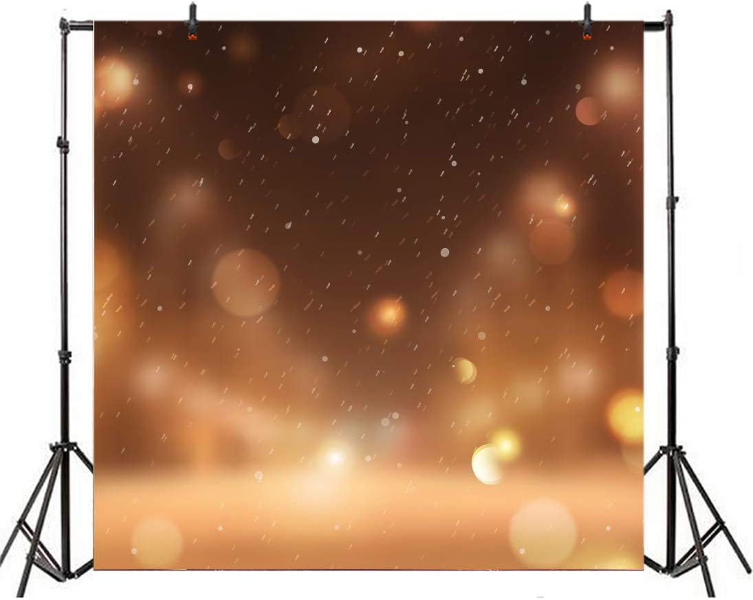 Leowefowa Abstract Picture Backdrop 8x8ft Vinyl Photography Background Merry Christmas Winter Holiday Snowflake Bokeh Background Children Baby Adult Portraits Photo Studio