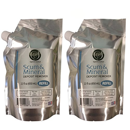 Supreme Surface: Scum & Mineral Deposit Remover, Refill Buddy, 22 fl oz (2 Pack)