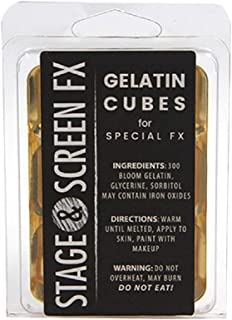 Professional FX Makeup Gelatin Cubes 4 oz. CLEAR - A Safe Alternative to Latex! FX Makeup, Skin effects, Scars, Prosthetics EASY! by spfxmakeup