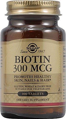 Biotina 100 comprimidos de 300 mcg de Solgar
