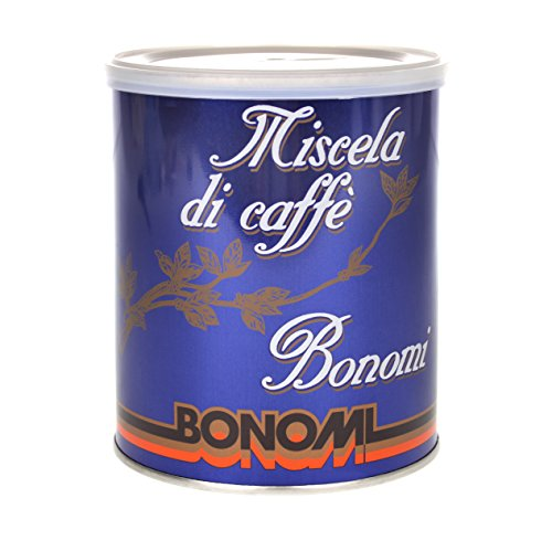 Bonomi Kaffee Espresso Blu Miscela Di Caffe, 250g gemahlen
