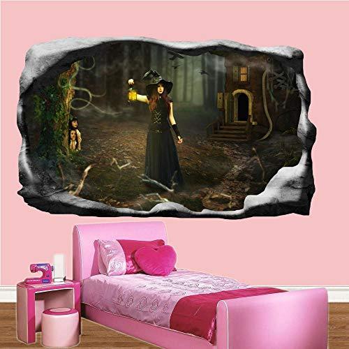 Pegatinas de pared Personajes de película Etiqueta de la pared Arte 3D Póster Calcomanía Mural póster papel tapiz- 80×120cm