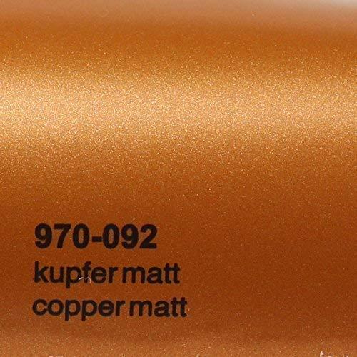 Preisvergleich Produktbild 20, 72 / m² Oracal 970RA 092 Kupfer Matt gegossene Profi Autofolie 152cm breit BLASENFREI mit Luftkanäle