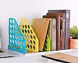 Caja de almacenamiento de colores para archivar libros de polipropileno para libros, revistas, plegable, múltiples capas de la placa, decoración DIY para oficina, sala de estudio, habitación infantil