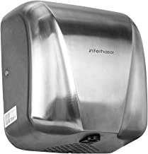 interhasa! Heavy Duty Commercial 1800 Watts High Speed Automatic Hot Hand Dryer - Stainless Steel Surface