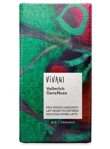 Vivani Chocolade Melk met Hele Hazelnoten, 100 g, 1 Units