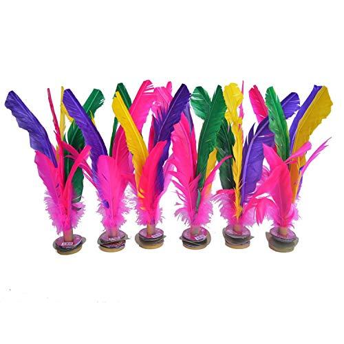 Piume colorate 6 pezzi Volano cinese Jianzi per la scuola cinese di calcio allenamento piede sport attività all'aperto, Confezione da 6