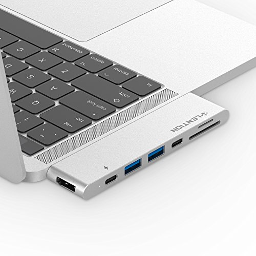 LENTION USB C Portable Hub with 100W Power Delivery, 40Gbps USB C Data Adapter, 4K HDMI, 2 USB 3.0, SD/Micro SD Card Reader Compatible 2016-2020 MacBook Pro 13/15/16, New Mac Air (CB-CS63, Silver)