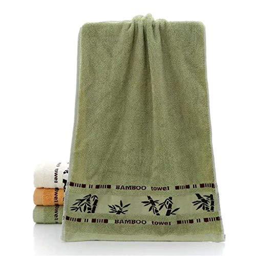 CZFWRX Juego De Toallas Hojas De Bambú Baño Belleza Toalla Facial Impresión De Hotel Suave SPA Cabello Toallas De Ducha De Mano para Adultos Niños Hogar (Color : C, Size : 2pcs Towel Set)
