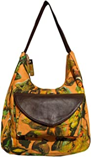 Spice Art Damen Orange Braun SEGELTUCH Handtasche