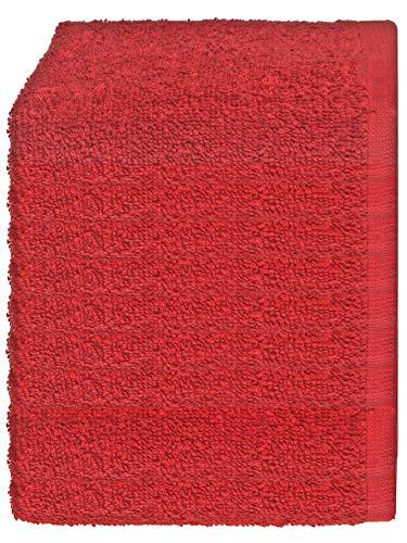 Julie Julsen Lot de 20 gants de toilette doux et absorbants Öko Tex Bordeaux 30 x 30 cm