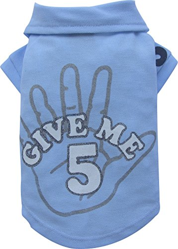 Doggy Dolly BD133 Big Dog Give me 5 Polo Shirt voor grote honden, blauw, L Brust 89-91cm, Rücken 61-63cm