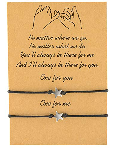 MANVEN Back to School Gifts Mother Daughter Relationship BFF Bracelets for 2 Friendship Distance Matching Bracelet for Him and Her Girlfriend Boyfriend