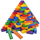 JOYIN Big Building Blocks 180-pieces Classic Bricks 6 Colors | Large Building Bricks STEM Toy for All Ages Compatible with Major Brands