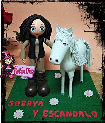 Fofucha jinete con caballo