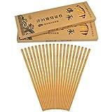 Jerbro 30 pares de palillos de madera de bambú natural, multicultural, antiguos palillos asiáticos antideslizantes, clásicos chinos japoneses coreanos con 3 cajas