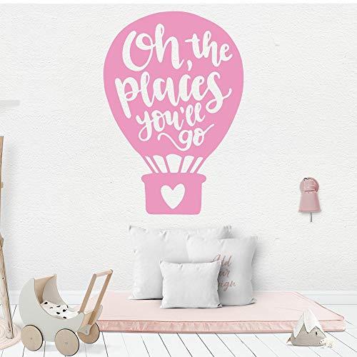Creativo globo de aire caliente texto pegatinas de pared decoración del hogar pegatinas sala de estar decoración pegatinas de pared otro color 43x62 cm