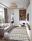 Ommda Alfombras Salon Modernas Rectngulo 3D Geometra Impresin Lavables Colores 7mm 120x160cm