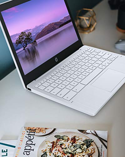 Product Image 8: HP Chromebook 11-inch Laptop – Up to 15 Hour Battery Life – MediaTek – MT8183 – 4 GB RAM – 32 GB eMMC Storage – 11.6-inch HD Display – with Chrome OS – (11a-na0021nr, 2020 Model, Snow White)