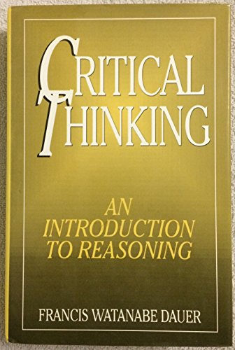 Critical thinking: An introduction to reasoning
