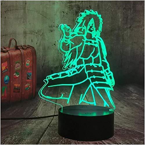 Figuras de anime Naruto Uchiha Marada 3D LED Figurine Mesa de la mesa Escritorio Noche Luces Lámpara Lámpara Muchachos Durmiendo Lámpara de noche Lámparas de decoración