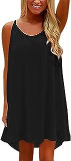 Yidarton Womens Summer Long Dress Casual Sleeveless Beach Backless Mini Dresses