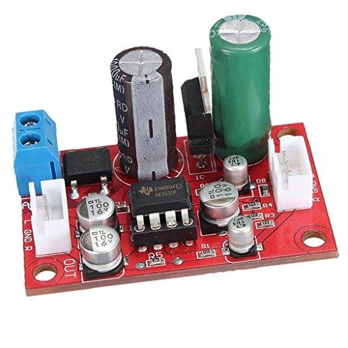 MagiDeal Ne5532 Micrófono Dinámico Preamplificador Estéreo Placa Amplificadora + Señal De Blindaje