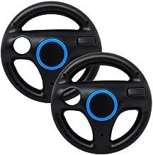 Mario Kart Wii Steering Wheels, PlayHard 2 Pack Mario Kart Wii Racing Wheels Compatible with Nintendo Wii, Wii U Racing Ga...