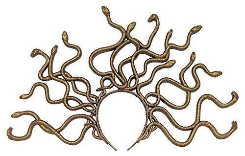 shoperama Medusa Schlangen Kopfschmuck Gold Kostüm-Zubehör Tiara Krone Kopfbügel griechische Mythologie