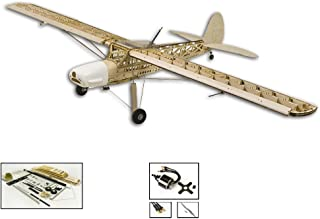 """DW Hobby 63"""" Balsa Wood Airplane Fi156 Storch 1.6M Electric Wooden Model Aircraft KIT Need to Build; Remote Control Airplane KIT for Adults (S2102)"""