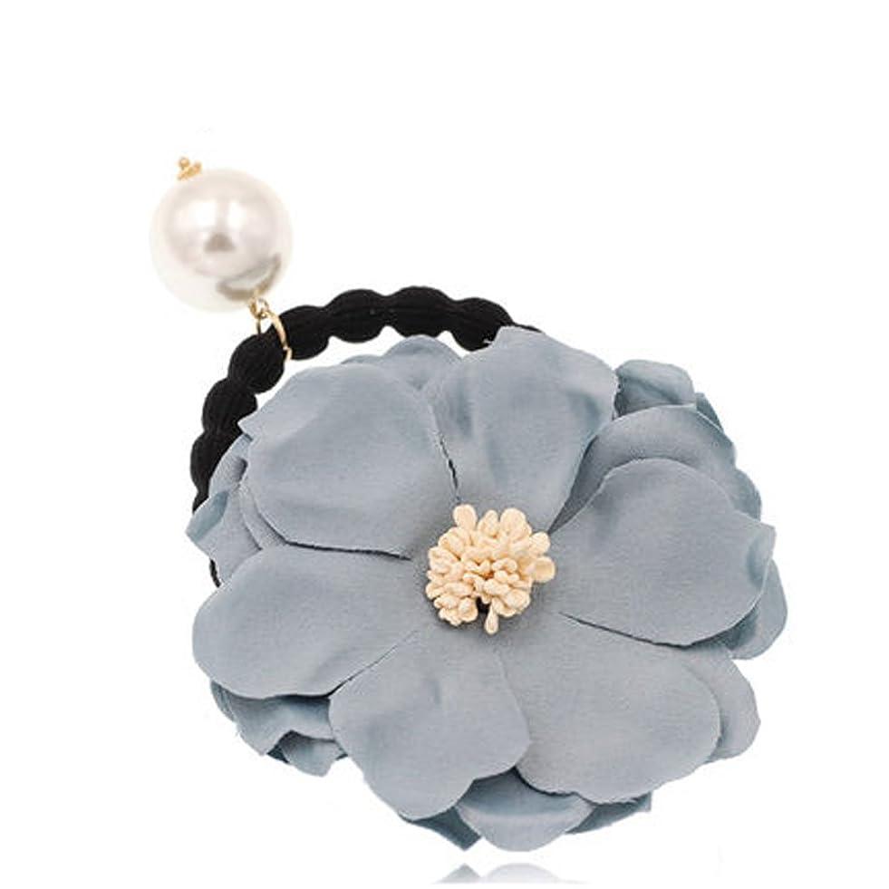 温帯クラウドゆるいヘアバンドのヘッドバンドブレードレースヘアアダルトヘアアクセサリー - スカイブルーの花
