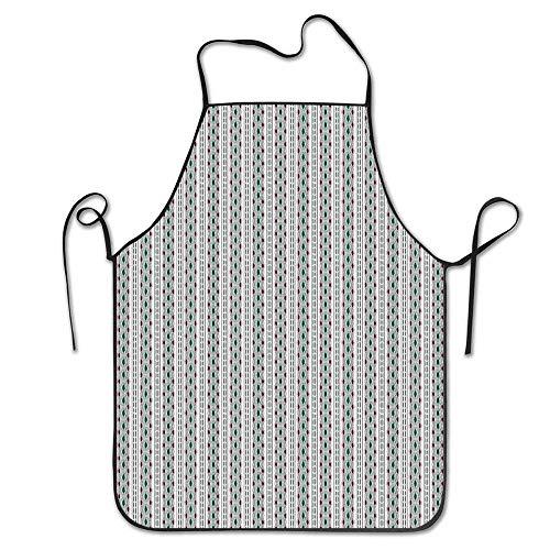 XCNGG Delantal de Cocina Kitchen Baking Personality Apron Restaurant Chef Garden Handmade Apron Lines Stripes Multicolored
