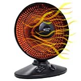 Comfort Zone CZ998 Electric Oscillating Radiant Dish Heater with...