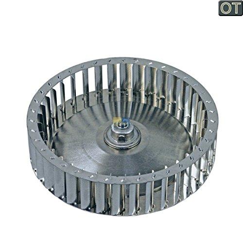 ORIGINAL AEG Electrolux 136407410 1364074102 Warmluftgebläse Lüfterrad Gebläserad Lüfter Umluft Metall Wäschetrockner Trockner Trocknerautomat auch Zanker Zanussi