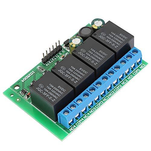 Module Relais 4 kanalen Flip-Flop Low Pulse Trigger zelfblokkerende relaismodule voor Smart-Home-toepassingen 6-24VDC