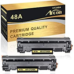 Include: 2 Packs Toner cartridges Compatible for HP 48A CF248A Black Toner Cartridge Yield up to: 1,000 Pages for 48A CF248A Black toner cartridge at 5% coverage (Letter/A4) Compatible Printer: HP LaserJet Pro M15a, HP LaserJet Pro M15w, HP LaserJet ...