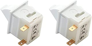 Kitchen Basics 101 2 Pack ES18806 Refrigerator Door Light Switch Replacement for GE WR23X10143, 5309918806, Whirlpool, Maytag, Admiral, Amana, Crosley, Jenn-Air, Kenmore, KitchenAid, Magic Chef, Supco