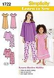 Simplicity Schnittmuster 1722 Pyjama und Nachthemd für Kinder