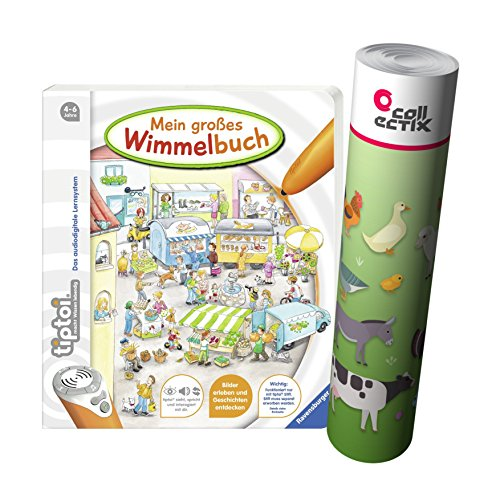 Ravensburger tiptoi ® Mein großes Wimmelbuch + Kinder Tier Poster by Collectix