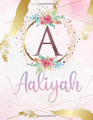 Aaliyah: Personalized Sketchbook with Letter A Monogram & Initial/ First Names for Girls and Kids. Magical Art & Drawing Sketch Book/ Workbook Gifts ... Cover. (Aaliyah Sketchbook, Band 1)