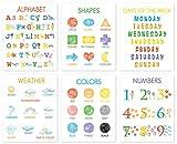 IARTTOP 6er Set Bunter Kinder Pädagogischer Posters |