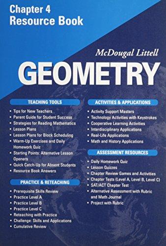 McDougal Littell - Geometry - Chapter 4 Resource Book