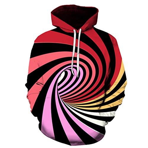 serliy😛Unisex 3D Hoodie Lustige Kapuzenpullover Langarm Pullover Kapuzenjacke Sweatshirt mit Tasche Ugly Pullover für Herren Damen