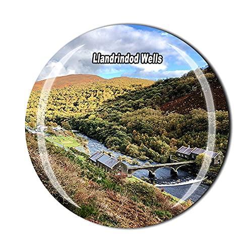 Llandrindod Wells Wales UK Imán para nevera de viaje, recuerdo de cristal, 3D, decoración del hogar y la cocina